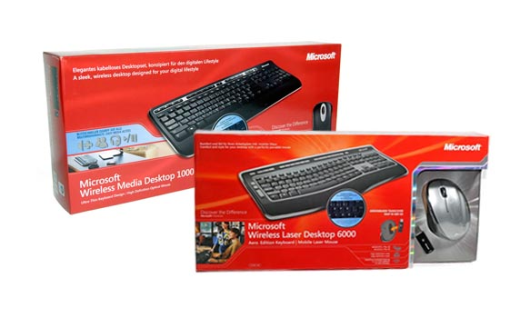 Wireless Media Desktop 1000 und Laser Desktop 6000