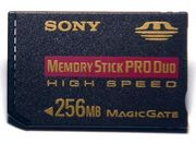 256 MB Memory Stick PRO Duo Highspeed  von Sony (mit MagicGate)